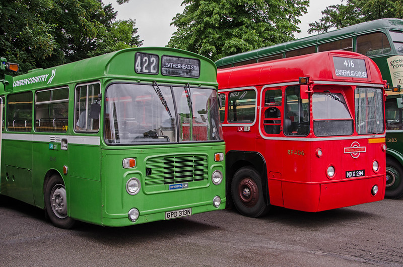 BN45 and RF406 in Randalls Road car park, Leatherhead