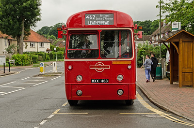 RF486 at the Orchard Close stop, Fetcham
