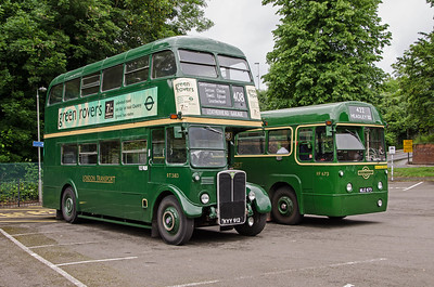 RT3183 and RF673 in Randalls Road car park, Leatherhead