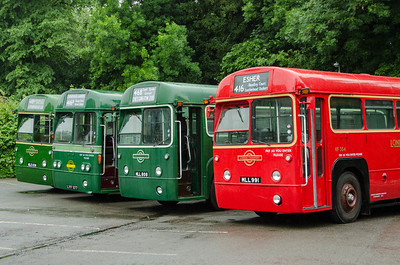 RF636, RF26, RF271 and RF354 in Randalls Road car park, Leatherhead