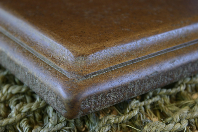 Leatherstone™ will not swell, shrink, warp, or split like wood lumber, nor crack or chip like tile or stone. Having the resilience of wood, gives it the ability to absorb  the shock of objects falling on it, that would otherwise break.