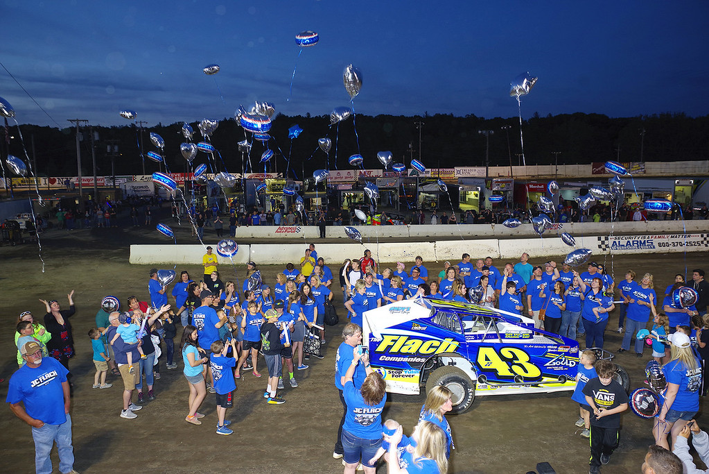 . Pre race JC Flach Memorial race ceremonies - Photos courtesy - Mark Brown/Ryan Karabin - Kustom Keepsakes For more photos/copies visit https//nepart.smugmug.com