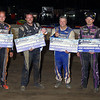 Heat Race winners and 7th place finisher awards L-R Kyle Armstrong, Mike Keeler (Heat Winners) Wayne Jelley (7th Place) & Brian Berger (Heat winner)