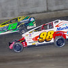 "Mod action Eddie Marshall #98 & Rob Pitcher #17 at Lebanon Valley Speedway. Photos courtesy Kustom Keepsakes Mark Brown and Ryan Karabin. For reprints and more visit <a href=""https://nepart.smugmug.com"">https://nepart.smugmug.com</a>"
