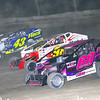 "Mod action Brian Berger #60, Eddie Marshall #98 & Keith Flach #43 at Lebanon Valley Speedway June 30, courtesy Kustom Keepsakes, Mark Brown and Ryan Karabin. For reprints and more,visit <a href=""https://nepart.smugmug.com"">https://nepart.smugmug.com</a>"