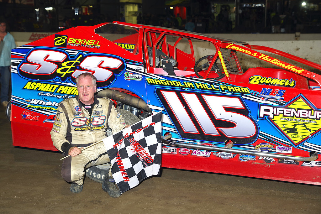 . Mod winner Kenny Tremont #115 at Lebanon Valley Speedway June 30, courtesy Kustom Keepsakes, Mark Brown and Ryan Karabin. For reprints and more,visit https://nepart.smugmug.com