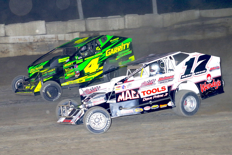 "Mod waction Elmo Reckner #17 & Andy Bachetti #4 at Lebanon Valley Speedway June 30, courtesy Kustom Keepsakes, Mark Brown and Ryan Karabin. For reprints and more,visit <a href=""https://nepart.smugmug.com"">https://nepart.smugmug.com</a>"