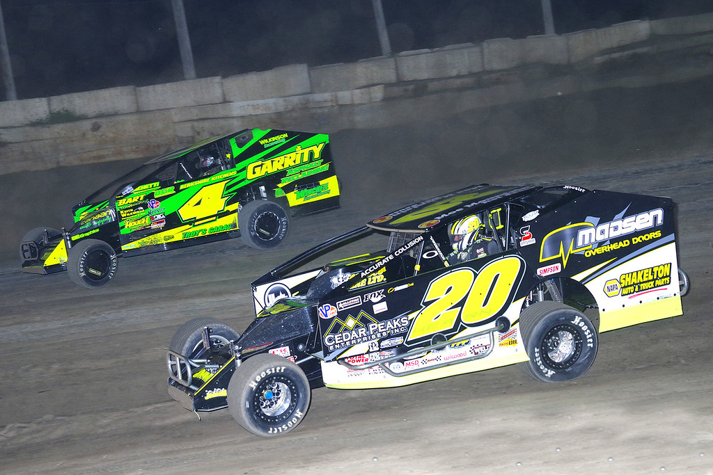 . Mod action Brett Hearn #20 & Andy Bachetti #4 at Lebanon Valley Speedway June 30, courtesy Kustom Keepsakes, Mark Brown and Ryan Karabin. For reprints and more,visit https://nepart.smugmug.com