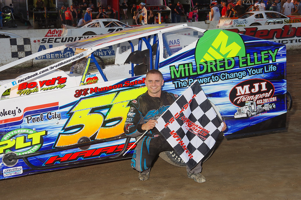 . Smallblock mod winner Brett Haas #55 at Lebanon
