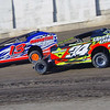 "Smallblock mod action JR Heffner #34 & Frank Hoard #13 at Lebanon Valley Speedway June 30, courtesy Kustom Keepsakes, Mark Brown and Ryan Karabin. For reprints and more,visit <a href=""https://nepart.smugmug.com"">https://nepart.smugmug.com</a>"