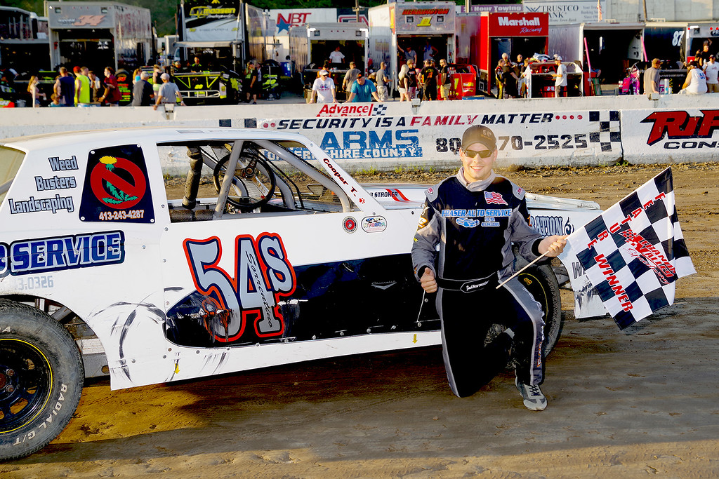. Pure Stock winner Zach Sorrentino #54S at Lebanon Valley Speedway June 30, courtesy Kustom Keepsakes, Mark Brown and Ryan Karabin. For reprints and more,visit https://nepart.smugmug.com