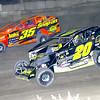 "Mod action Brett Hearn #20 & LJ Lombardo #35 at Lebanon Valley Speedway June 30, courtesy Kustom Keepsakes, Mark Brown and Ryan Karabin. For reprints and more,visit <a href=""https://nepart.smugmug.com"">https://nepart.smugmug.com</a>"