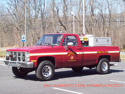 QUENTIN VOLUNTEER FIRE CO. BRUSH 37 1986 CHEVY/QFC BRUSH UNIT