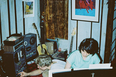FL and Shirley Lebin, recording at her home studio in May 1978. Dokorder 7140 reel.