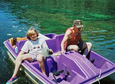 Lebins, 1997-06, Annie, Larry - Susquehanna river.