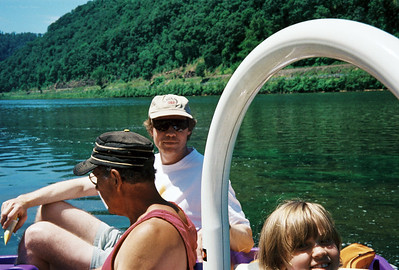 Lebins, 1997-06, Larry, FL, Annie, on the Susquehanna river.