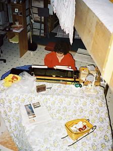 Shirley Lebin playing piano at home. November 25 1997.