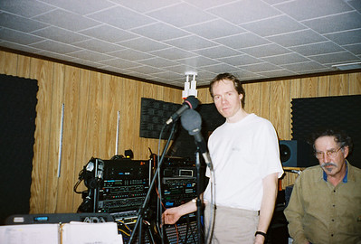 Larry Lebin & FL in my basement studio, 702 Robert St. Mechanicsburg PA. Jan 1 1998