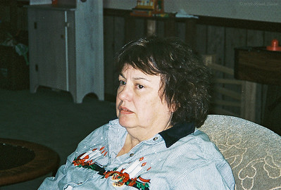 Shirley Lebin, visiting us, Dec 31 1998.