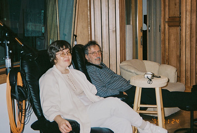 Visit from the Lebins, Jamming in the Maple Room. JML, Larry Lebin. August 17 1999.