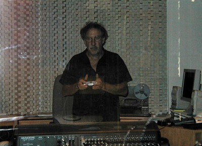 Larry Lebin in thye control room at the Maple Room, August 1999.