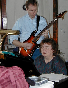 FL and Shirley Lebin, jamming at the Lebin house, Dec 10 2000.