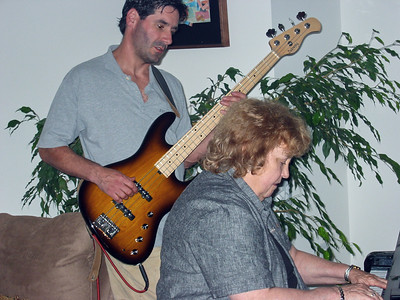 Barry & Shirley Lebin, bass & piano, Greensburg, PA. August 2003.