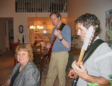 Shirley Lebin, FL guitar, Barry Lebin, bass, Greensburg, PA. August 2003.