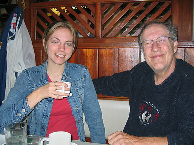 Annie and Larry Lebin, breakfast at Fox's Market, Lock Haven PA. Oct 16 2005.