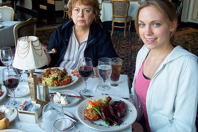 Dinner with the Lebins at LeMont restaurant in Pittsburgh PA. Shirley, Annie