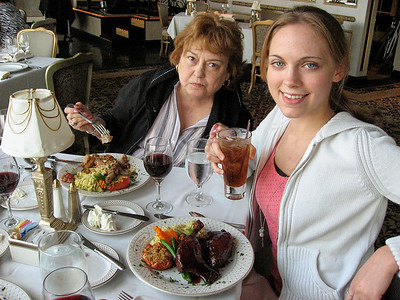 Dinner with the Lebins at LeMont restaurant in Pittsburgh PA. Shirley, Annie.
