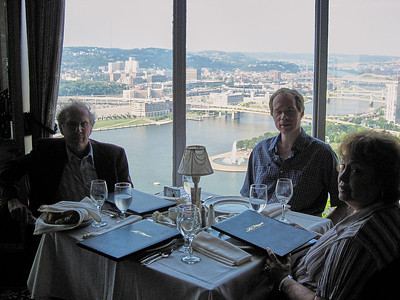 Dinner with the Lebins at LeMont restaurant in Pittsburgh PA - Larry, FL, Shirley