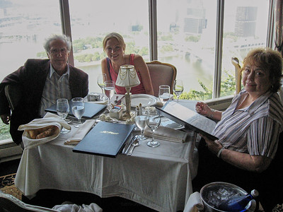 Dinner with the Lebins at LeMont restaurant in Pittsburgh PA. Larry, Annie, Shirley