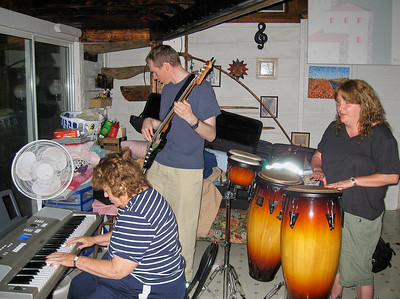 Shirley Lebin, FL, Linda Lebin, jamming in Lock Haven PA. The last time I played music with Shirley.
