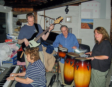 Shirley & Larry Lebin, FL, Linda (Lebin) Gabriel jamming at home in Lock Haven PA. The last time I played music with Shirley.