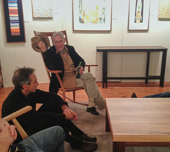Nick, Tom Svec, Larry Lebin - at Tom Svec gallery. Dec 3 2011
