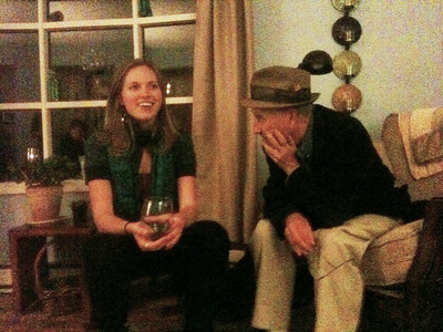 Annie, with Larry Lebin at home of Bob Myers in Lock Haven PA. Oct 15 2011