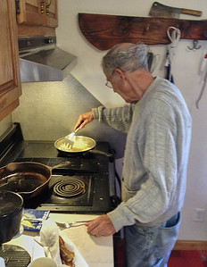 Larry Lebin cooking me breakfast.