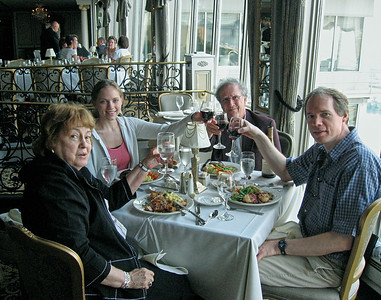 Dinner with the Lebins at LeMont restaurant in Pittsburgh PA. Shirley, Annie, Larry, FL. Aug 9 2006