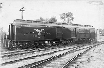 2010.030.BP.12--lee hastman collection 8.5x13 print--CNO&TP--wooden baggage-express car 28 builders photo (AC&F lot 2672)--Jeffersonville IN--no date