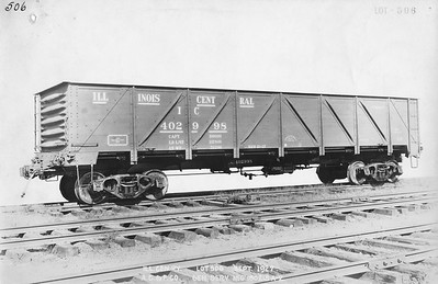 2010.030.BF.06--lee hastman collection 9x13 print--ICRR--steel gondola 402998 builders photo (AC&F lot 506)--St Louis MO--1927 0900