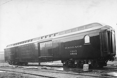 2010.030.BP.01--lee hastman collection 8.5x12.5 print--CB&Q--wooden baggage car 1502 builders photo (AC&F lot 5968B)--Jeffersonville IN--1911 0112