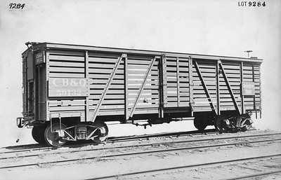 2010.030.BF.01--lee hastman collection 8.5X13 print--CB&Q--wooden boxcar 59132 builders photo (AC&F lot 9284)--St Louis MO--1922 0700