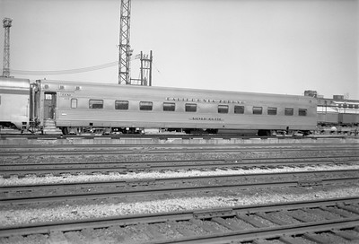 2010.030.01.P.24--lee hastman 6x7 neg [Owen Leander]--CB&Q--sleeper passenger car Silver Butte 425--Chicago IL--1972 0704