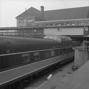 2010.030.05.5.009--lee hastman 120 neg--ICRR NP--Pullman dome car 308 at 12th Street Central Station--Chicago IL--1959 0000