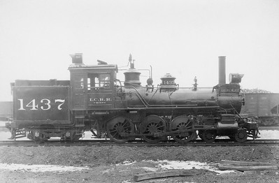 2010.030.PS.015--lee hastman collection 8x10 print [Elvis B Adams]--ICRR--steam locomotive 4-6-4T 1437--Chicago IL--1925 1019
