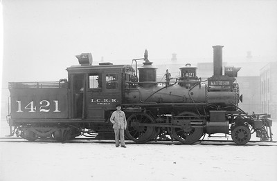2010.030.PS.007--lee hastman collection 8x10 print [John K Melton]--ICRR--steam locomotive 2-4-4T 1421--Chicago IL--1926 1212