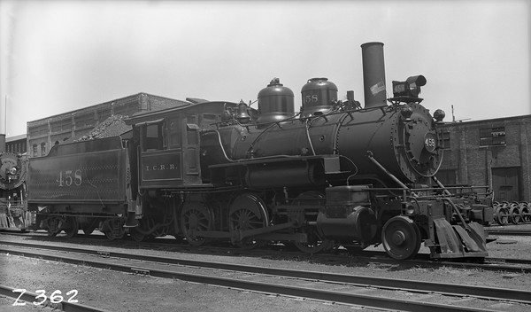 2010.030.05.1.021--lee hastman PC neg--ICRR--steam locomotive 2-6-0 458--Freeport IL--1938 0619