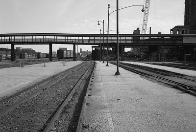 2010.030.05.8.005E--lee hastman 6x9 neg--ICRR--12th Street yard scene and abandoned passenger platforms--Chicago IL--1972 0000