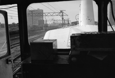 2010.030.05.8.005D--lee hastman 6x9 neg--ICRR--Highliner seen from switch engine near 27th Street--Chicago IL--1972 0000